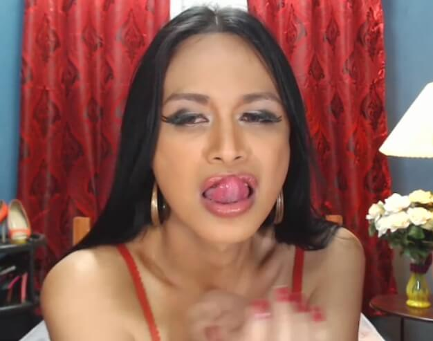 Ladyboy Clessica is new and sexy in red